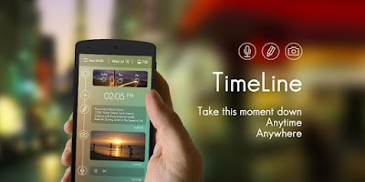 Screenshot of Timeline GO Locker Theme