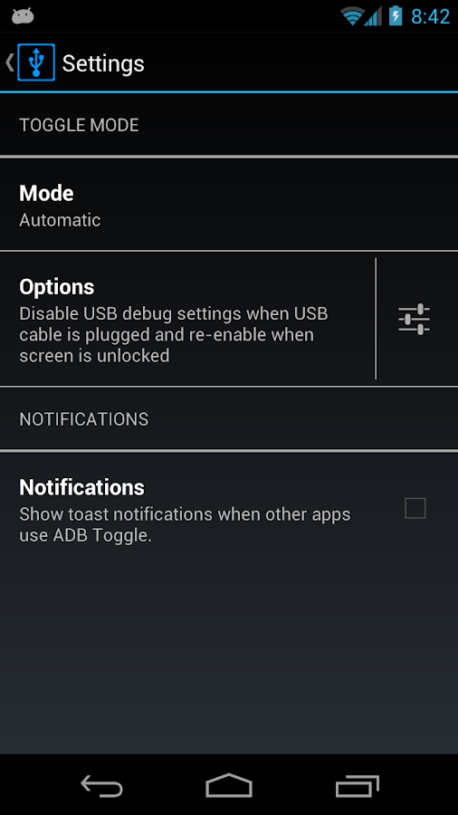 ADB Toggle (ROOT/USB) - screenshot