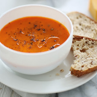 Oven-roasted Pepper And Tomato Soup