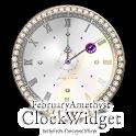 2月の誕生石の時計ウィジェット icon