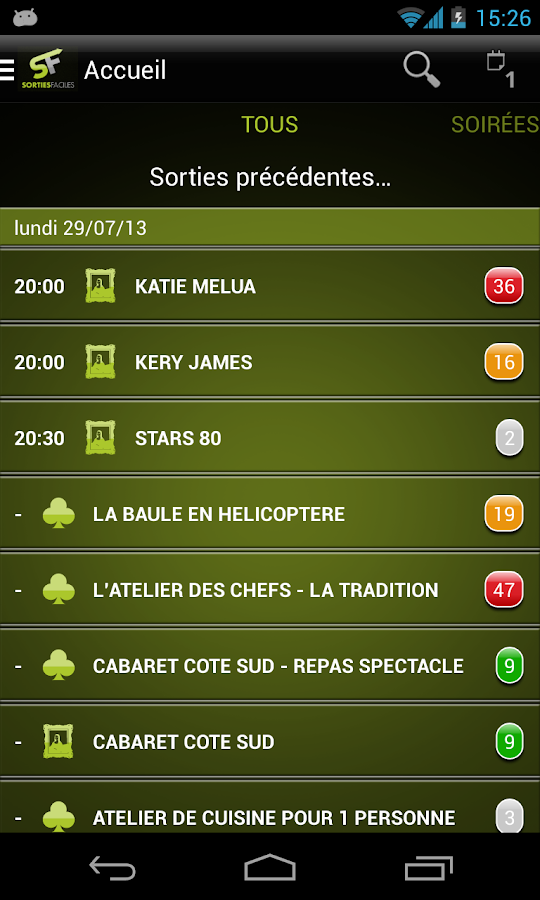 Sorties Faciles- screenshot