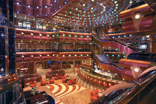 Carnival-Freedom-Millennium-Atrium - Carnival Freedom's sweeping Millennium Atrium is a perfect place for people watching, relaxing or meeting new friends.