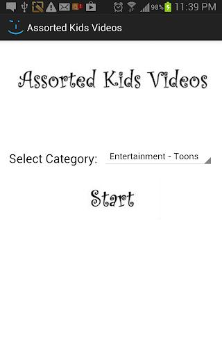 Assorted Kid Videos