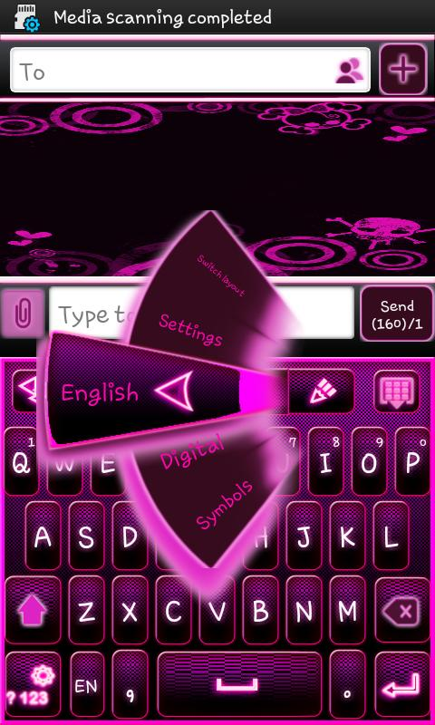 Go Keyboard Emo Punk Theme - screenshot