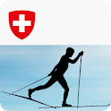 Cross-country skiing technique icon