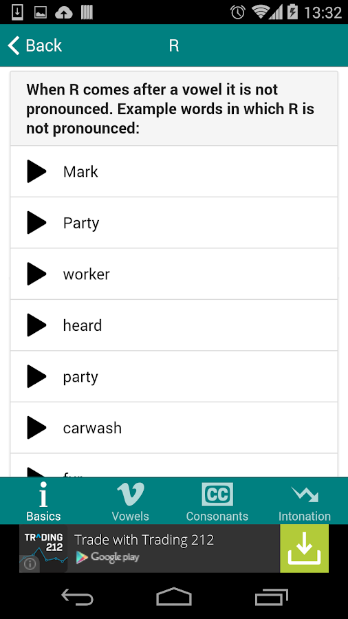 British Accent Top Tips - screenshot