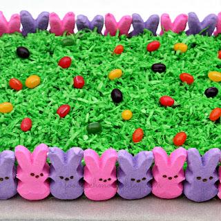 Easy Easter Peeps Cake.