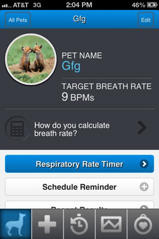 Resting Respiratory Rate- screenshot
