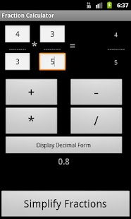 Fraction Calculator Free - screenshot thumbnail