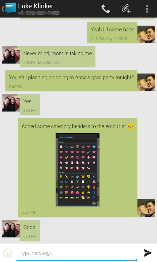 Sliding Messaging Pro- screenshot