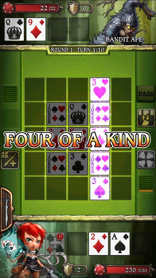Swords & Poker Adventures- screenshot