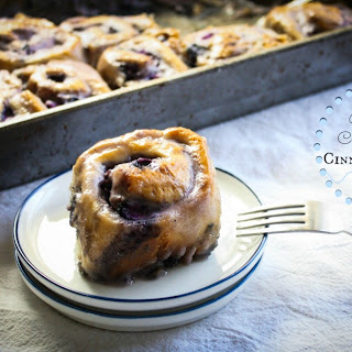 Blueberry Philadelphia Cream Cheese Cinnamon Rolls