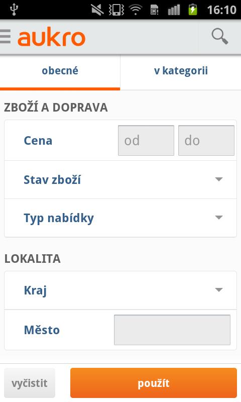 Aukro.cz- screenshot