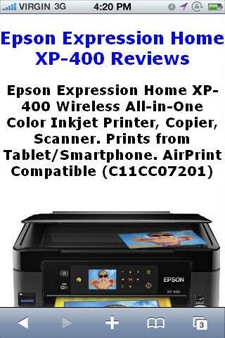 XP400 Inkjet Printer Reviews
