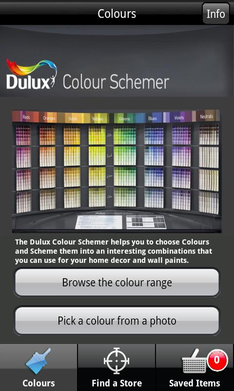 Dulux Colour Schemer - screenshot