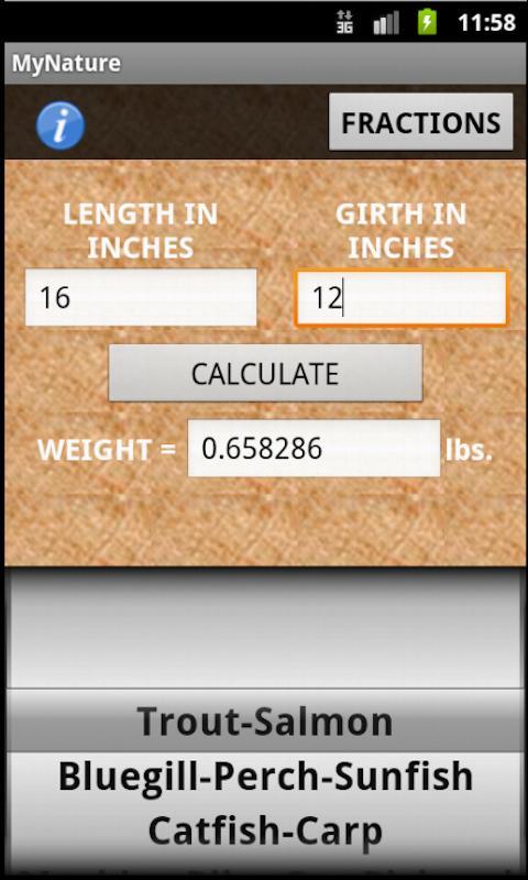 Fish Weight Calculator- screenshot