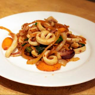Stir-Fried Squid (Ojinguh Bokkeum).