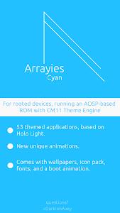 Arrayies Cyan CM12/11 theme v1.0