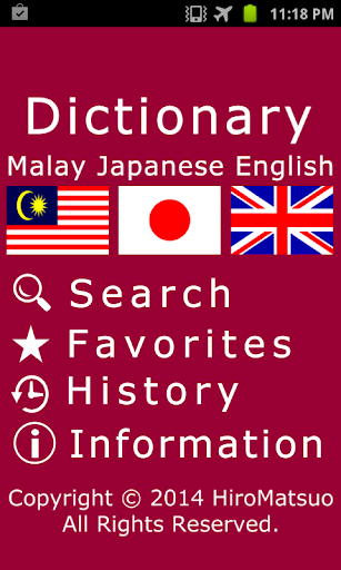 Malay Japanese word Dictionary