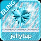 ♦ BLING Theme Teal Zebra SMS ♦ icon
