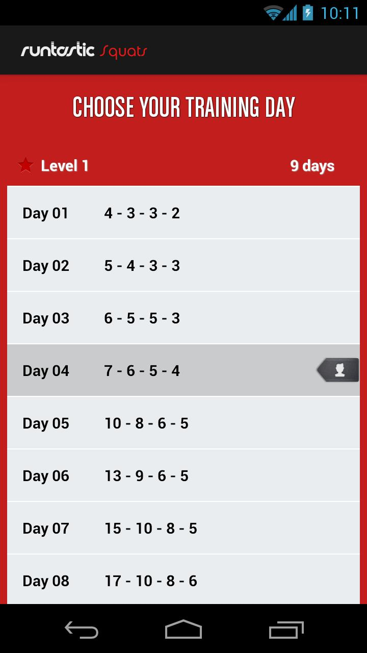 Runtastic Squats Workout PRO Screenshot 5