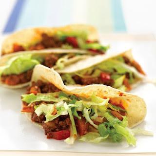 Lighter Beef Tacos