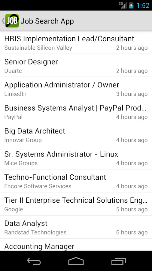 Job Search App- screenshot