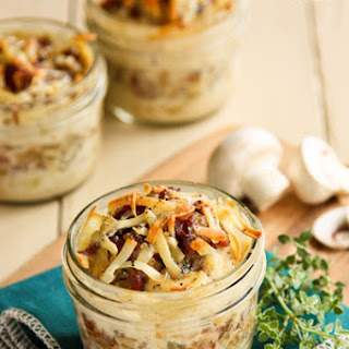 Make-Ahead Individual Potato Gratins with Bacon and Mushrooms