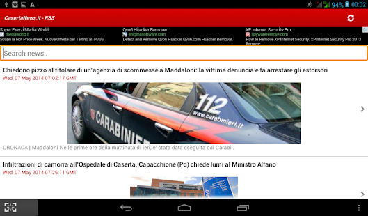 Caserta News.it - RSS - screenshot thumbnail