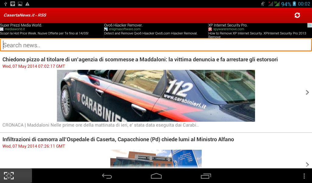 Caserta News.it - RSS - screenshot