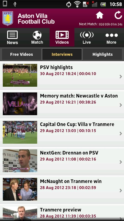 Aston Villa - screenshot