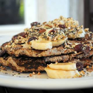 Chia, Hemp & Almond Banana Pancakes.