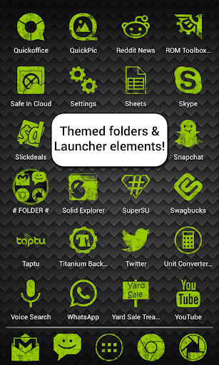 免費個人化App Green Grunge APEX GO NOVA ADW 阿達玩APP