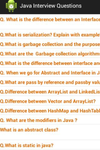 Java J2EE Questions Free - screenshot