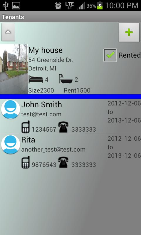 Rental Property Manager Lite- screenshot