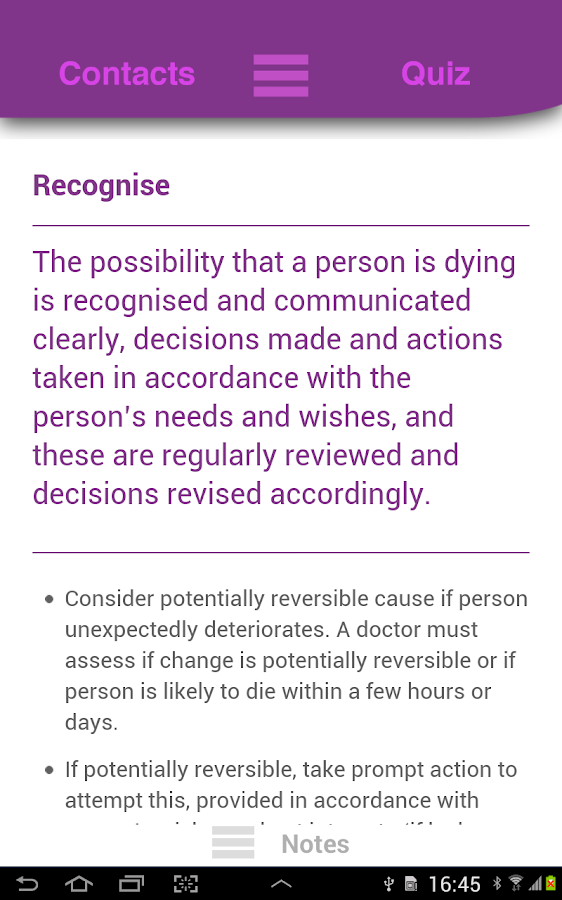 LACDP End of Life Guidance- screenshot