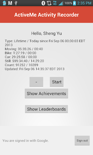 ActiveMe Activity Recorder