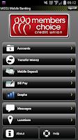 Screenshot of Members Choice CU Mobile