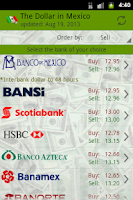 Screenshot of The dollar in mexico