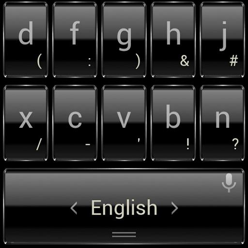 个人化のキーボードのテーマ BlkFrame LOGO-記事Game