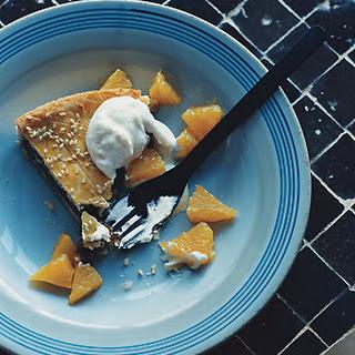 Fig and Sesame Tart with Cardamom Orange Cream