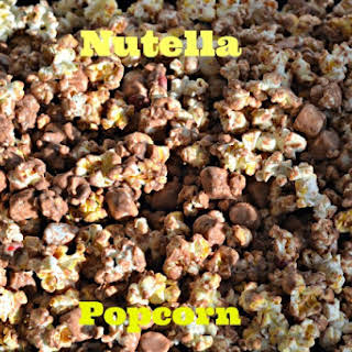 Nutella Marshmallow Popcorn with M & M's (adapted from Inside BruCrew Life).