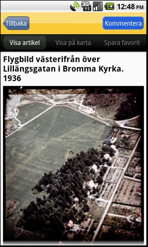 Historiska Stockholmsbilder- screenshot