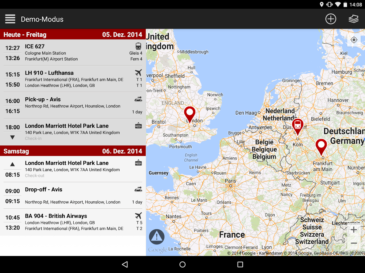 travelload trip planner - screenshot