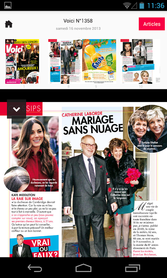 Voici le magazine - screenshot