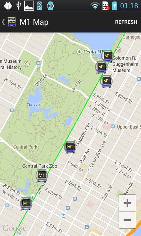 NYC Bus Time For All MTA / NYC- screenshot