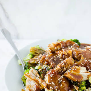 Slow Cooker Sesame Garlic Chicken.