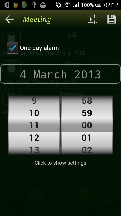 Colorful alarm (Alarm clock)- screenshot