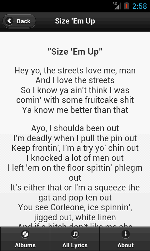 Handy Lyrics - Big L - screenshot
