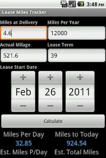Lease Miles Tracker- screenshot thumbnail